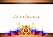 vector greeting card with congratulations to 23 february and Victory Day poster