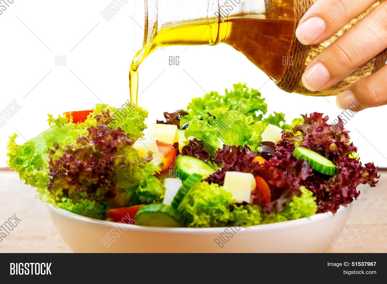 Fresh Salad Olive Oil Image Photo Free Trial Bigstock