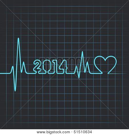 Illustration of heartbeat make 2014