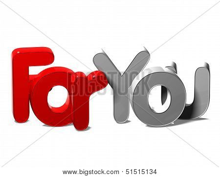 3D Word For You On White Background