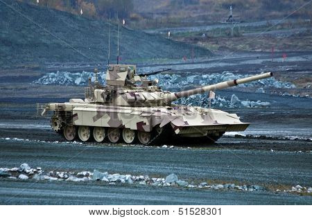 new T-90MC is a Russian main battle tank (MBT)  poster