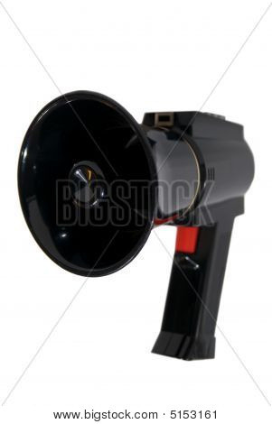 Black Megaphone On White