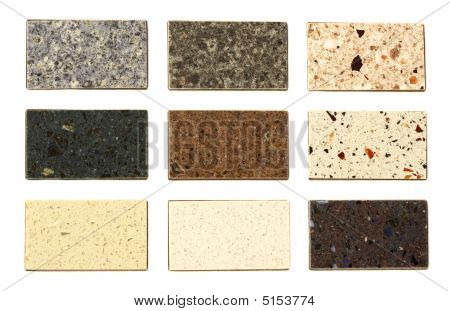 Countertop Samples Over White