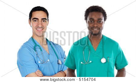 African And Caucasian Doctors