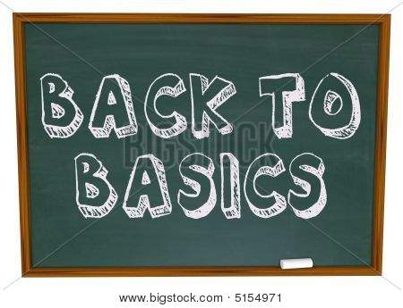 Back To Basics - Chalkboard