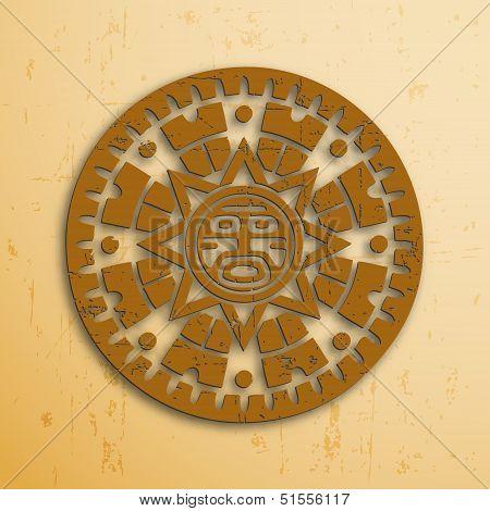 Mayan Sun Symbol Images Illustrations Vectors Mayan Sun Symbol