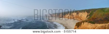 California Coast With Fog Over Pacific