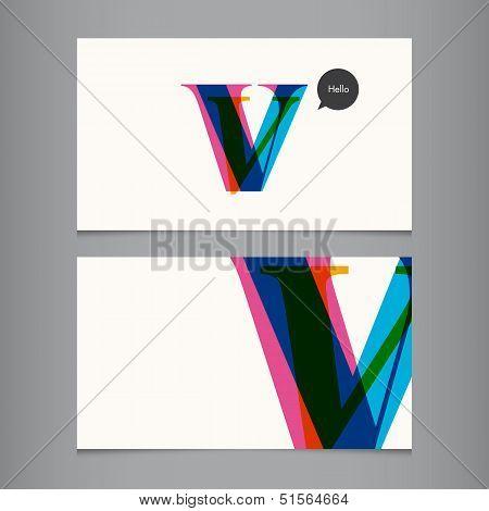 V-business-card