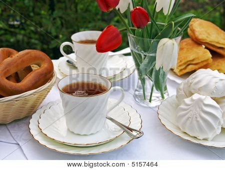 Afternoon Tea In A Summer Garden