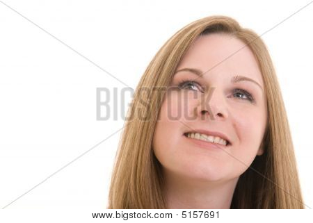 Attractive Woman Looking Up