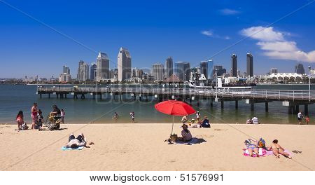 A San Diego Bay And Downtown View From Coronado
