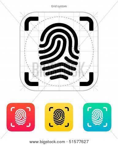 Scanning finger icon.
