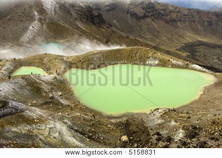 Emerald Lakes With People