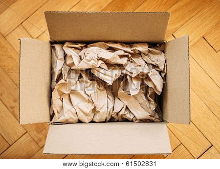 Cardboard Box From Above