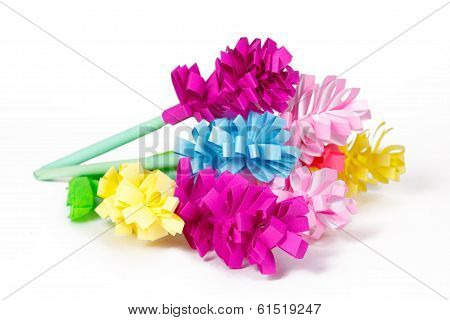 Many Colored Paper Flowers