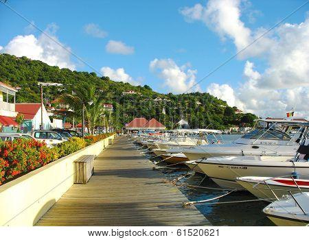 Gustavia Harbor at St Barts