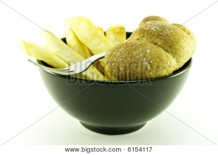 Frys In A Black Bowl
