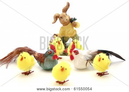 Easter fledglings with Easter bunny