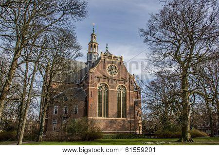 Nieuwe Kerk Church In The Center Of Groningen