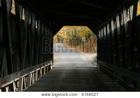 Inside Fallasburg Bridge