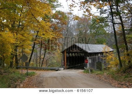 Whites Covered Bridge In Autumn