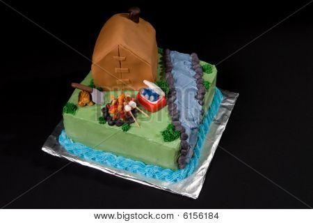 Theme Camping Cake