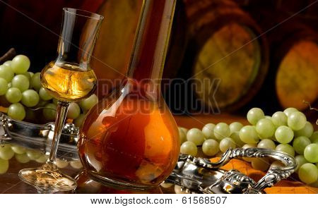 Glasses of grappa