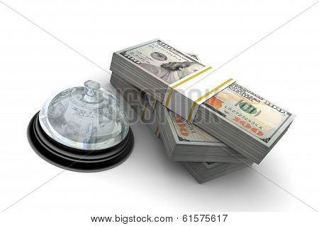 Hundred Dollar Stack And Service Bell