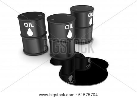 Oil Spill And Drums
