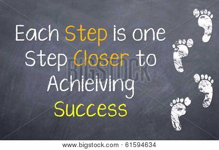 One Step Closer to Success