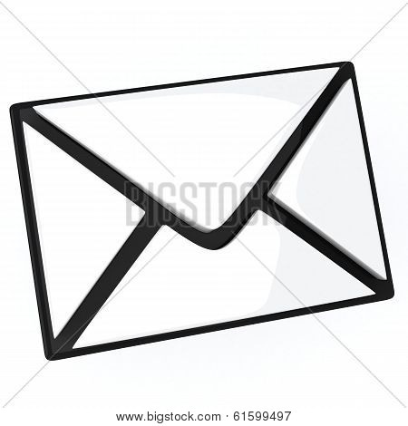 Letter - email icon, 3d