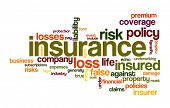 insurance word cloud conceptual image poster