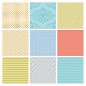 Seamless Colorful geometric minimalistic subtle background patterns. poster