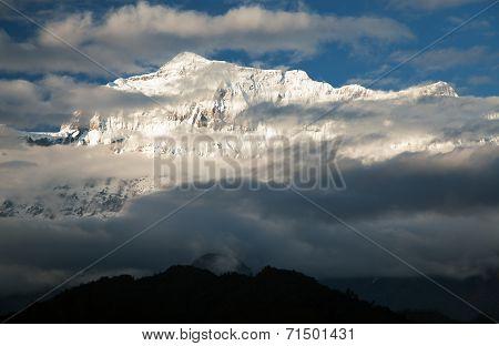 Evening View Of Gurja Himal - Dhaulagiri Himal - Nepal