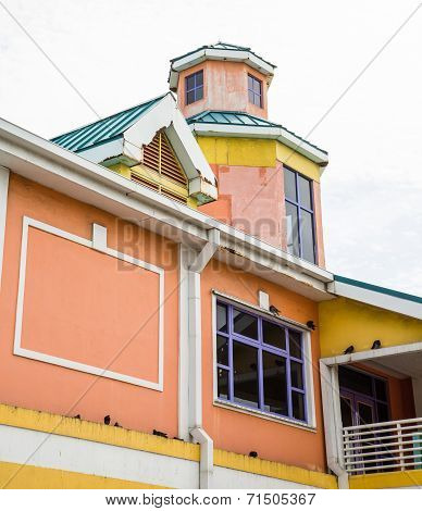 Colorful Building In Nassau Bahamas