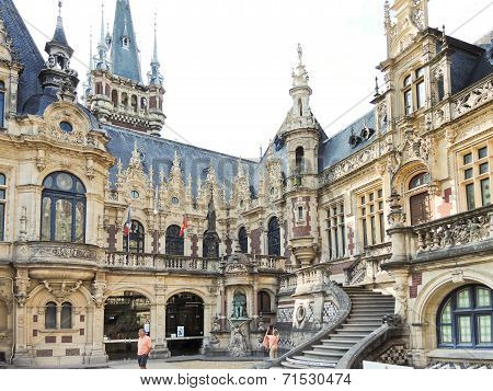 Benedictine Palace In Fecamp Town, France