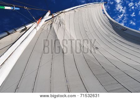 Egyptian Sailboat (felucca) Along The Nile River