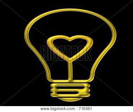 Heart Light Bulb