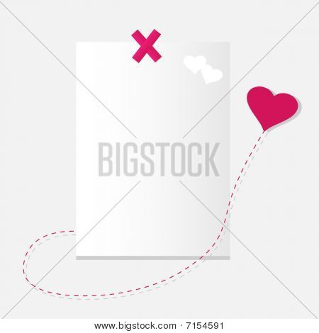 The Sheet Of Paper And Heart.