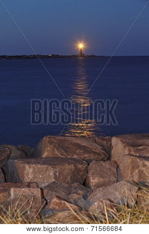 Skagen (denmark) - Lighthouse (grey Tower) Flashes