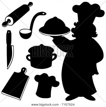 Chef silhouettes collection