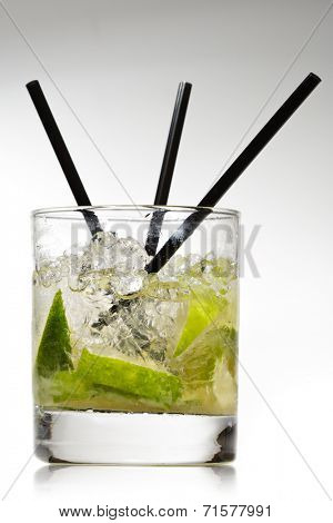 Caipirinha - National Cocktail of Brazil Made with Cachaca, Sugar and Lime