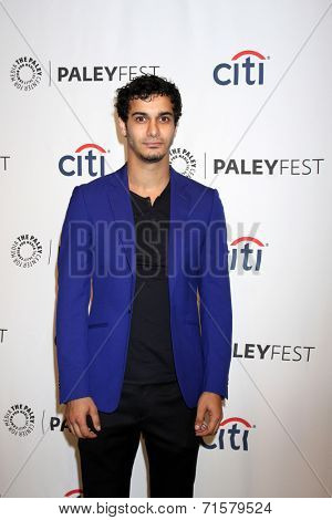 LOS ANGELES - SEP 7:  Elyes Gabel at the Paley Center For Media's PaleyFest 2014 Fall TV Previews - CBS at Paley Center For Media on September 7, 2014 in Beverly Hills, CA