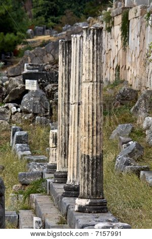 Delfi oracle at Greece (Athenians stoa)