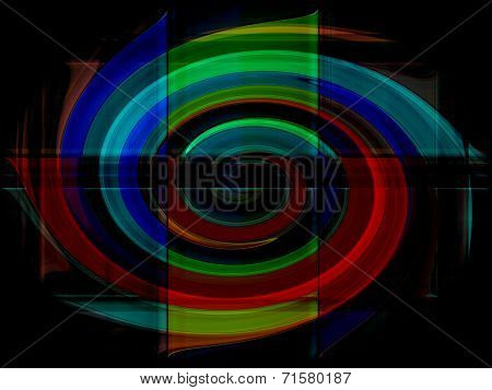Colorful Gradient Stripes Abstract Background