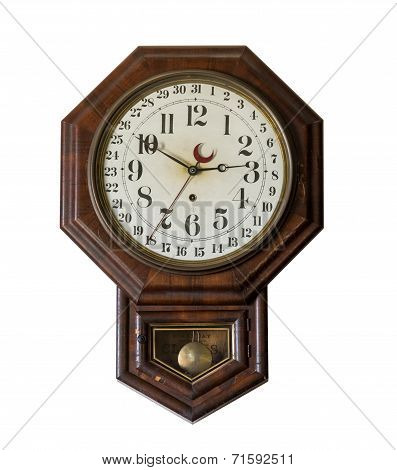 Antique Wall Clock In Old General Store At Appomattox