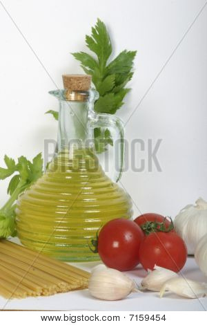 Olive Oil And Pasta With Vegetables