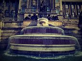 This is fountain in the Prag before National museum. poster