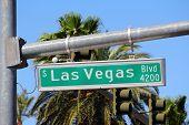 Las Vegas Nevada United States. Famous Las Vegas Boulevard (the Strip). poster