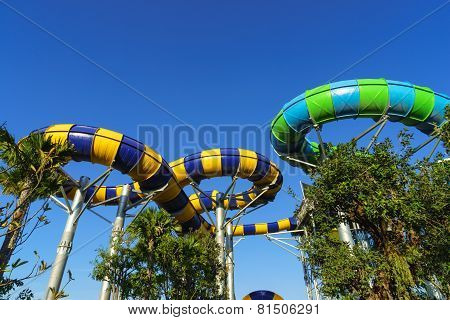 Huge and Exiting Water Tube Slides
